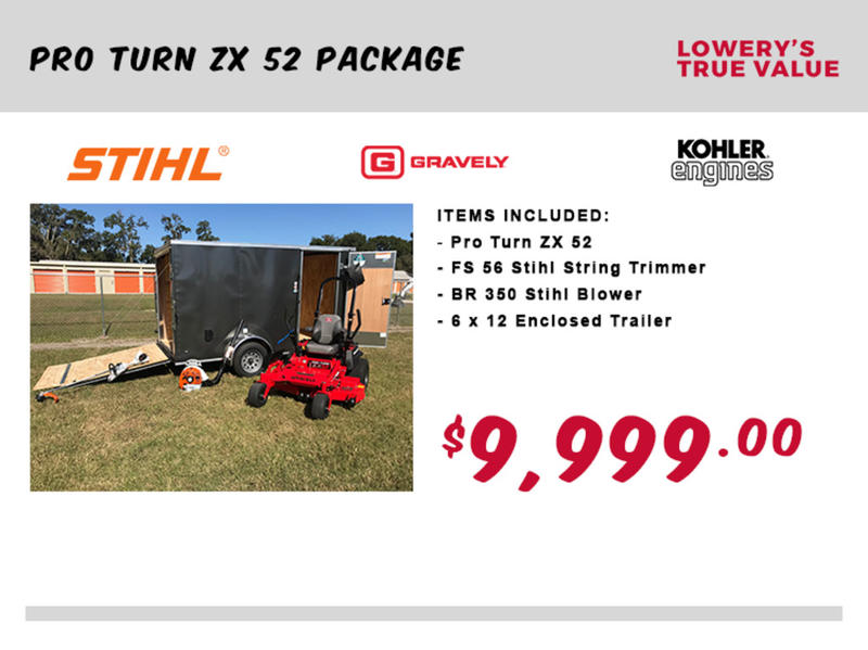 2018 Gravely/Stihl Pro Turn ZX 52 Package | Lowery's True Value