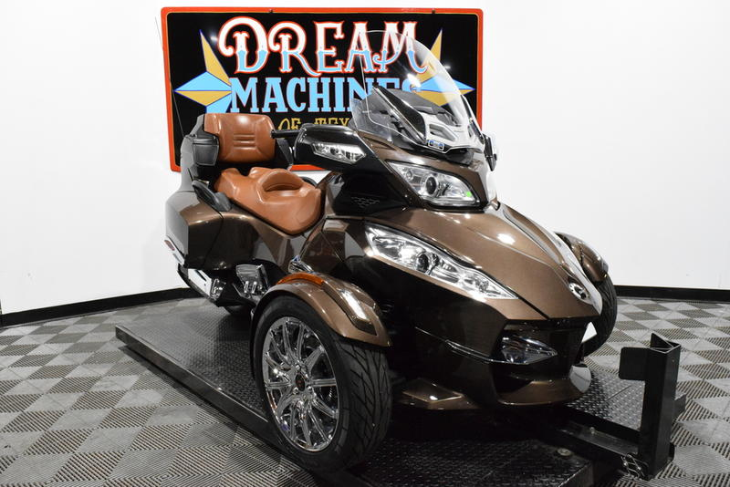 Can-Am Spyder RT Limited SE5 -- Dream Machines of Texas 2013 Can-Am Spyder RT Limited SE5  4711 Miles Lava Bronz