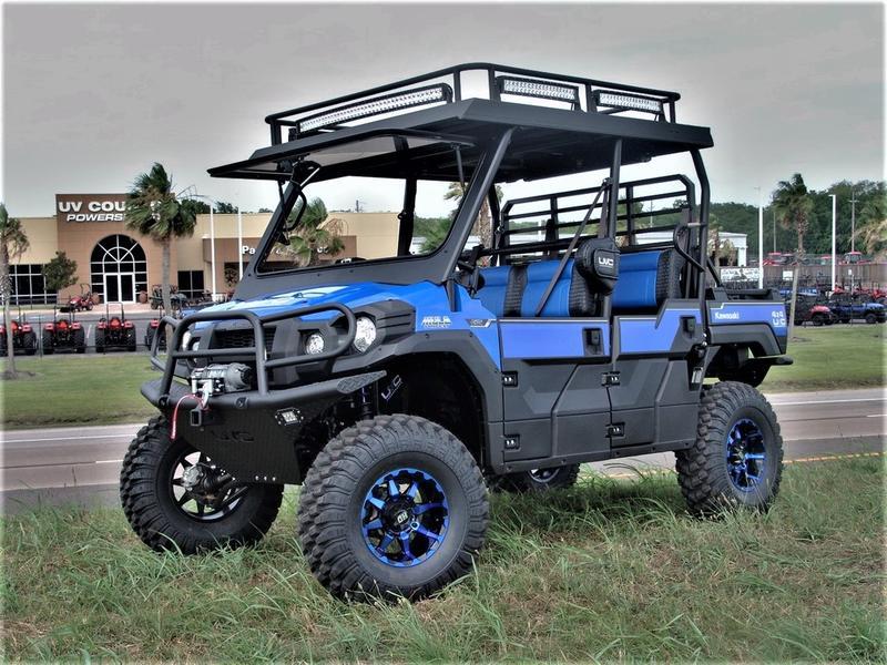 2018 Kawasaki Uvc Custom Blue Beast Mule Pro Fxt Eps Stock