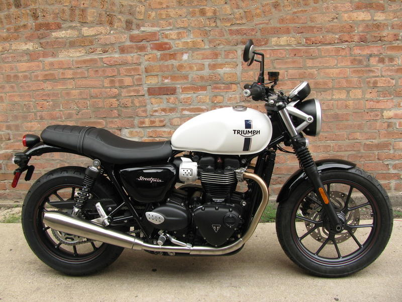 2018 triumph street twin crystal white t1007n motoworks. Black Bedroom Furniture Sets. Home Design Ideas