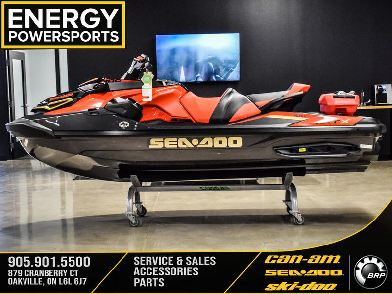 2019 Sea Doo PWC boat for sale, model of the boat is RXT®-X® 300 IBR & Sound System Eclipse Black and Lava Red & Image # 2 of 16