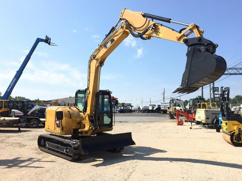 USED 2017 CATERPILLAR 308E2CR CRAWLER EXCAVATOR EQUIPMENT #543524