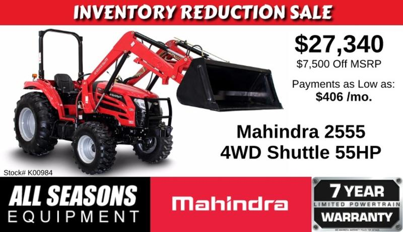 2016 Mahindra 2555 Shuttle K00984   All Seasons Equipment