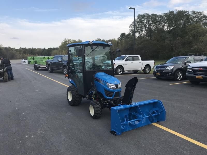 2019 LS Tractor MT125 W/Heated Cab and Front Snowblower