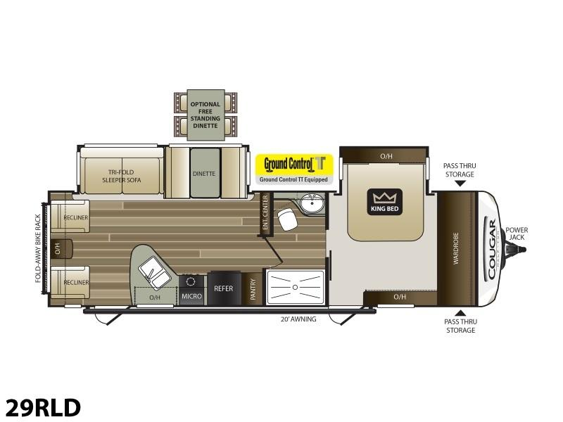 2019 Keystone RV Cougar Half-Ton 29RLD 3765 | S & S RVs on heat pump thermostat diagram, honeywell thermostat installation diagram, rv thermostat replacement, rv thermostat duo therm air conditioner, home thermostat diagram, hvac thermostat diagram, thermostat connection diagram, rv thermostat wiring color code, rv wall thermostat, circuit diagram, how a thermostat works diagram, rv comfort coleman mach thermostat, 3 wire thermostat diagram, rv thermostat cover, rv ac thermostat wiring, rv wiring schematics, rv furnace thermostat wiring, rv air conditioning diagram, rv refrigerator diagram, rv thermostat upgrade,