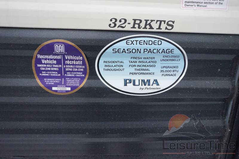 2019 Palomino Puma 32-RKTS | Leisure Time Sales