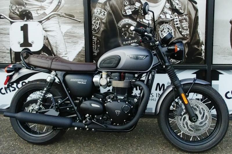 2019 Triumph Bonneville T120 Black Matte Graphite Cascade Moto