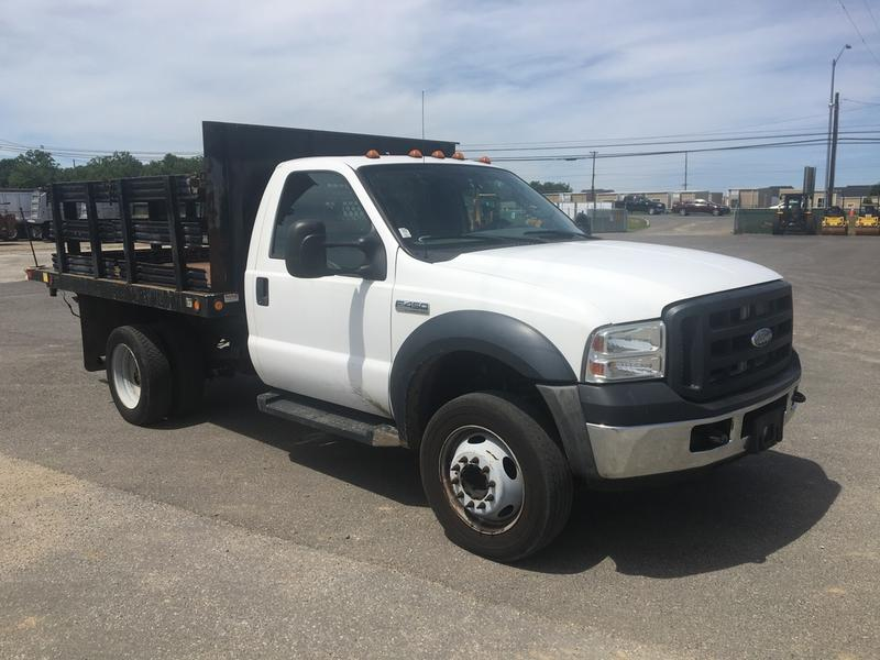 USED 2007 FORD F450 FLATBED TRUCK #596228