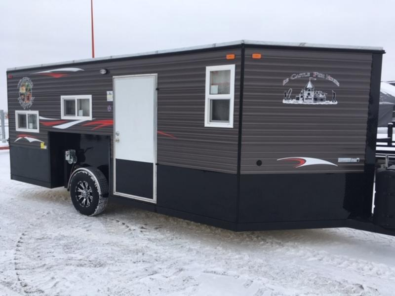 2019 Ice Castle Fish Houses 8'x16' Trophy Hunter Stock ... Ice Castle Wiring Diagram On Trailer on