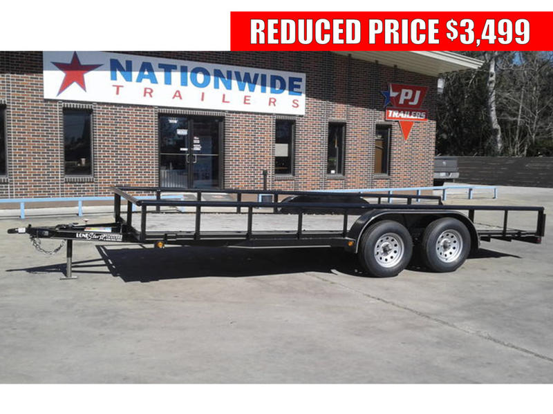 2018 lonestar 16 ft 83 tandem axle utility pipetop trailer t23014 nationwide trailers. Black Bedroom Furniture Sets. Home Design Ideas