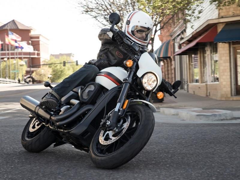 cd44027fc59 Man riding white Harley-Davidson® XG750A Street Rod®
