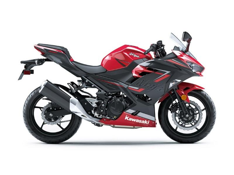 2019 Kawasaki Ninja® 400 ABS Candy Red/Metallic Dark Gray