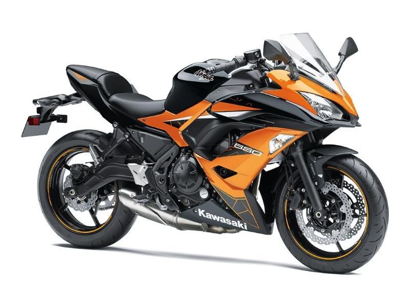 2019 Kawasaki Ninja® 650 ABS Candy Orange/Metallic Spark Black