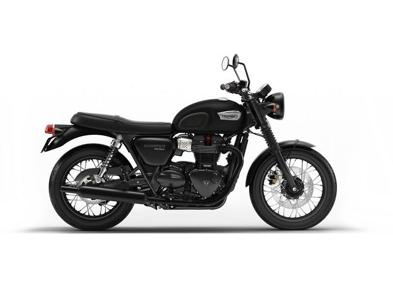 2019 Triumph Bonneville T100 Black Matt Black The Motorcycle Shop