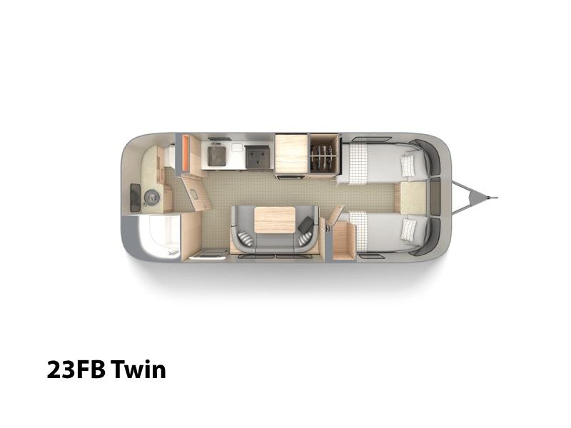 2020 Airstream Globetrotter® 23FB Twin | RV Solutions Inc