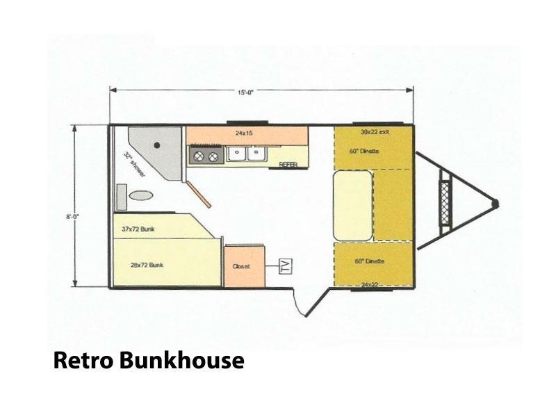 diagram of bunkhouse 2015 riverside rv retro bunkhouse kent mitchell rv  2015 riverside rv retro bunkhouse