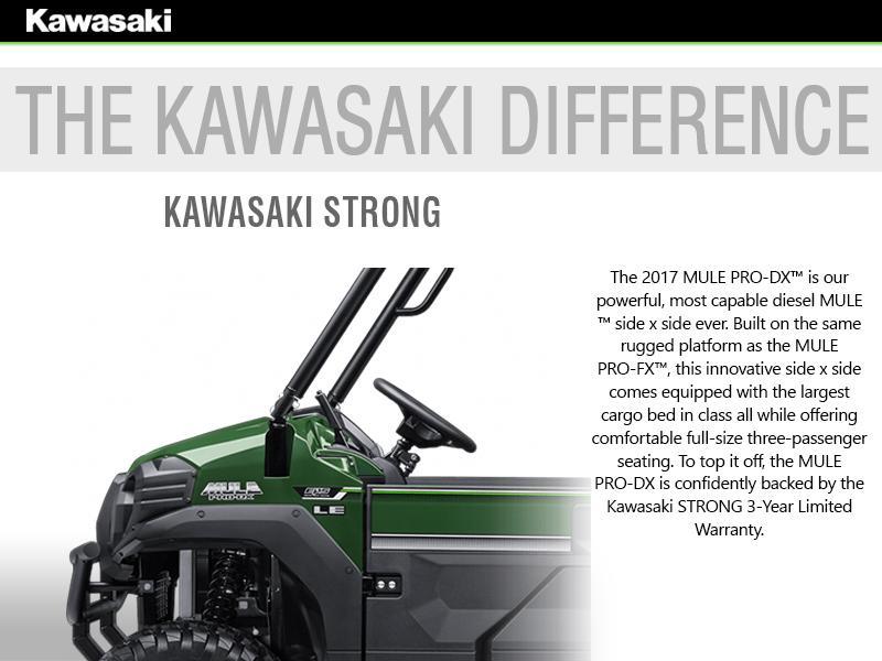 2017 Kawasaki Mule Pro-DX™ Diesel EPS | Outlaw Powersports
