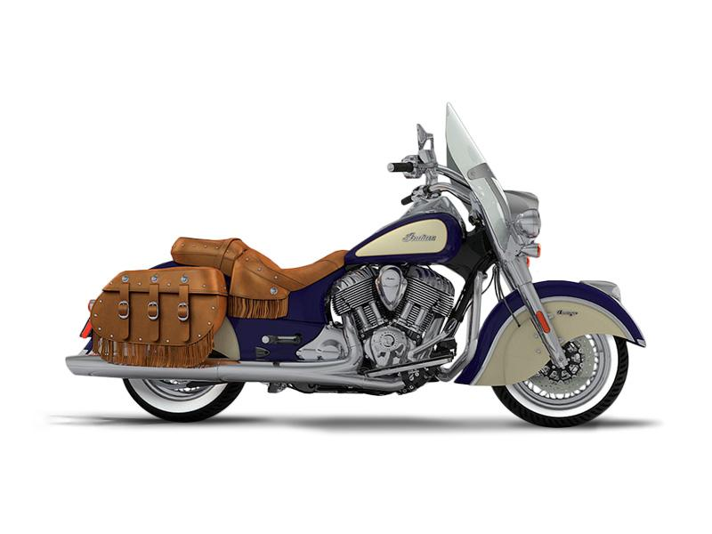 2017 indian motorcycle chief vintage springfield blue over ivory cream stock 342057 wheels inc. Black Bedroom Furniture Sets. Home Design Ideas
