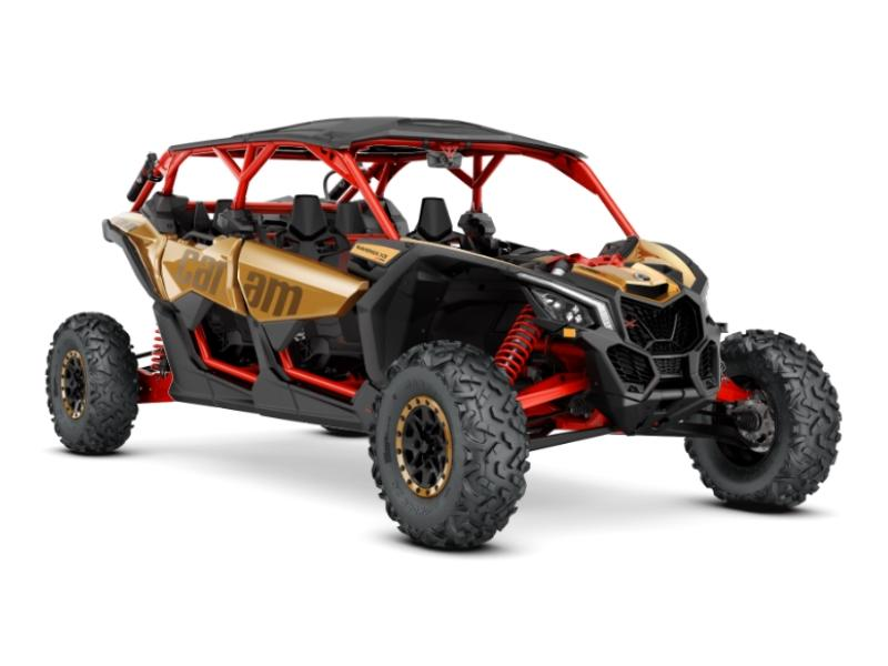 2017 can am maverick x3 max x rs turbo r gold can am red stock 000429 coyote powersports. Black Bedroom Furniture Sets. Home Design Ideas