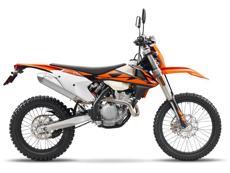 c0b6fb14650f8 Used Orange 2018 KTM 250 EXC-F on a white background
