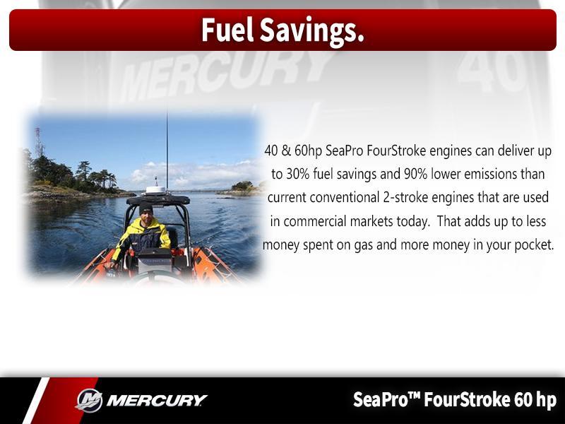 2018 Mercury Marine® SeaPro™ FourStroke 60 HP | Metro Boating