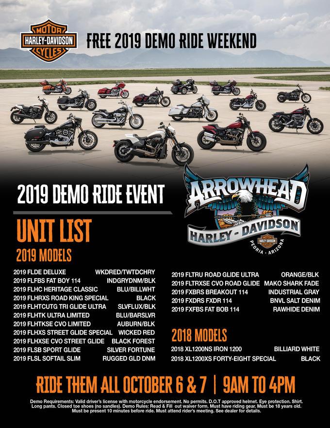 Event Calendar | Arrowhead Harley-Davidson® | Peoria Arizona