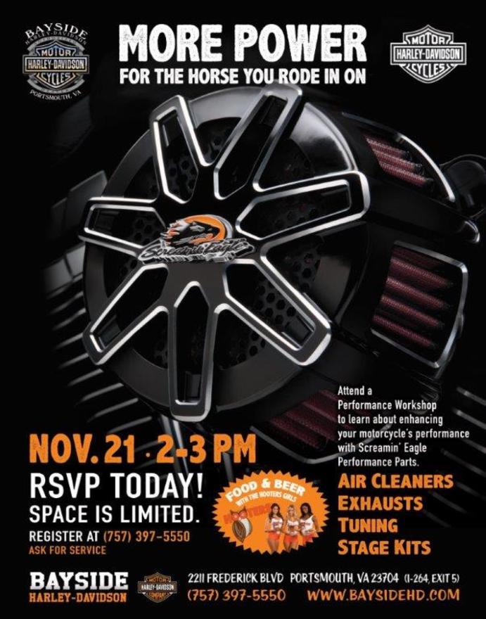 Calendar Events Bayside Harley Davidson Portsmouth Virginia