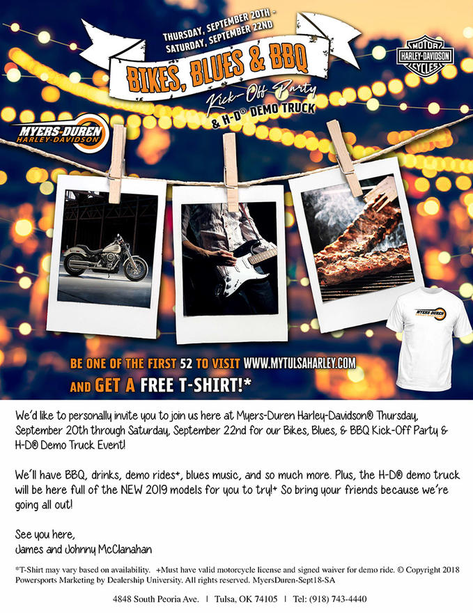 Event Calendar | Myers-Duren Harley-Davidson® | Tulsa Oklahoma