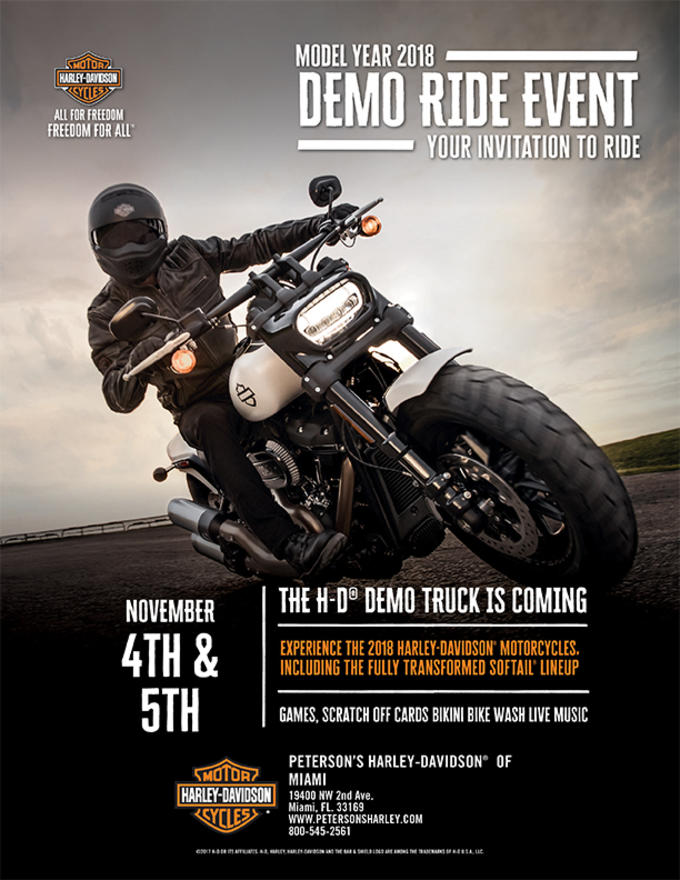 experience the new 2018 harley davidson motorcycles including the fully transformed soft tail lineup games scratch off cards live music and bikini bike