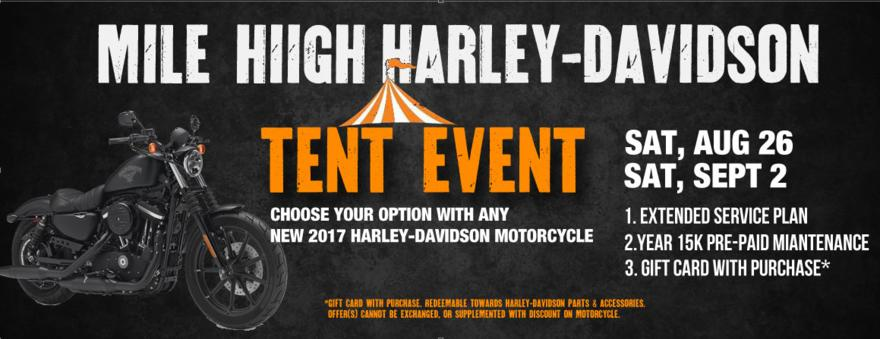 vaild only at mile high harley davidson and mile high harley davidson parker offers cannot be exchanged or supplemented with discount on motorcycle