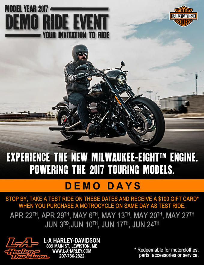 Calendar Events | L-A Harley-Davidson® | Lewiston Maine