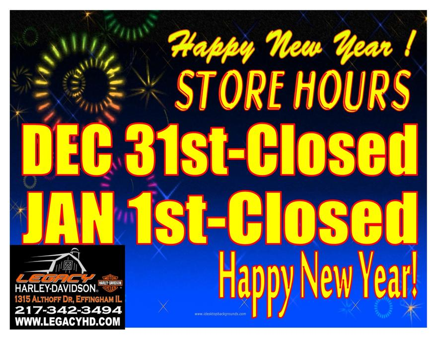 closed for new years eve